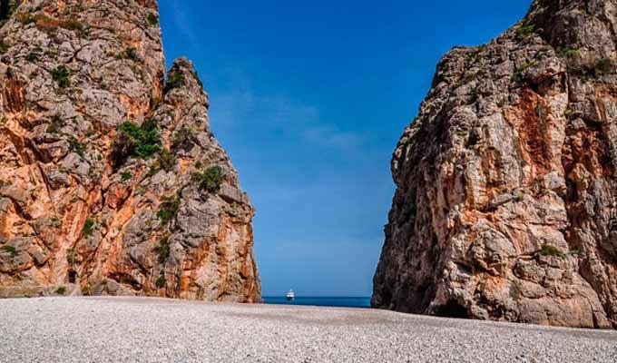 Cala de Sa Calobra en Mallorca