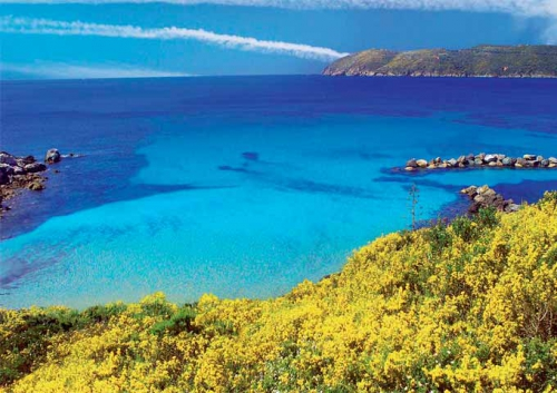 Bahía en la Isla de Elba
