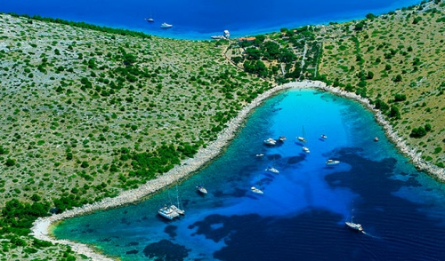 Viaje de Vacaciones en Velero a Croacia - Islas Kornati - Cala de Lojena