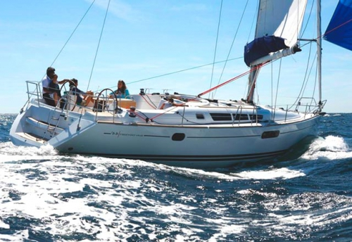 Empopada del Alquiler de Veleros Sun Odyssey 44i en Croacia