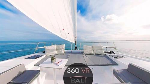 Solárium de Proa del Alquiler de Catamarán Bali 43 en Mallorca