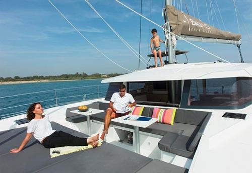 Solárium del Alquiler de Catamarán Bali 45 en Mallorca