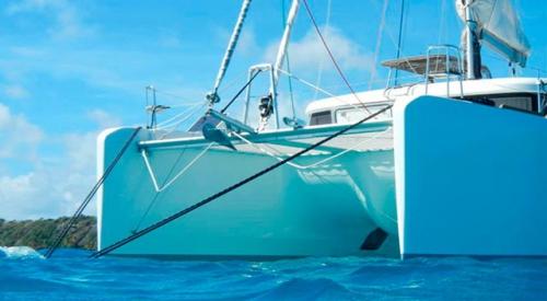 Proa del Alquiler de Catamaran Lagoon 39 en Mallorca