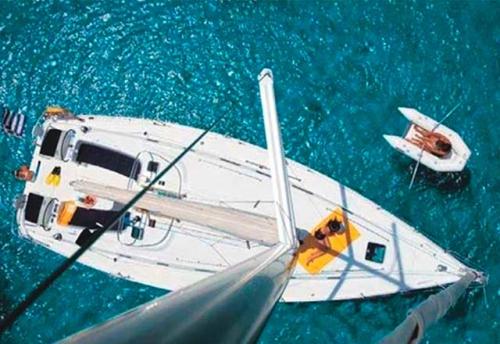 Fondeado el Alquiler de Velero Cyclades 43.4 en Menorca