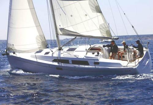 Navegando el Alquiler de Velero Hanse 350 en Menorca