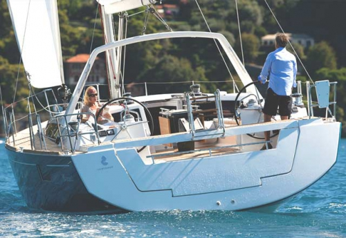 En navegación el Velero Oceanis 48 en Alquiler en Mallorca