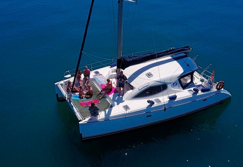 Familia en el Alquiler de Catamaran Nautitech 395 en Denia