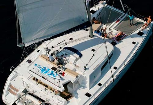 Cubierta del Alquiler de Catamarán Lagoon 500 en Italia