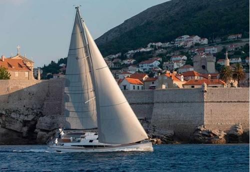 Navegando en el Alquiler de Velero Jeanneau 54