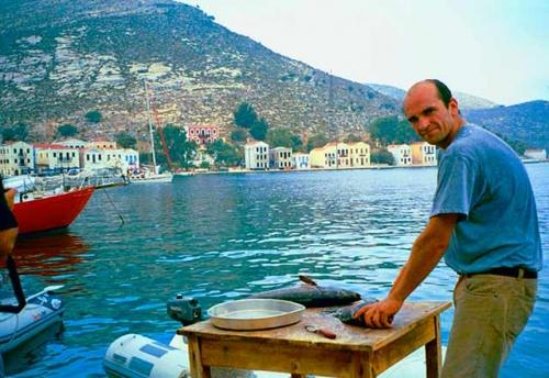 Pescador en Navegar en Turquía