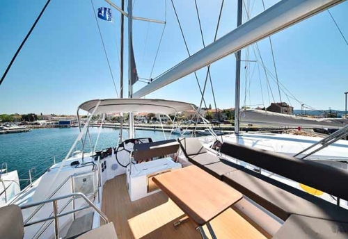 Flybridge del Alquiler de Catamarán Nautitech 46F en Grecia